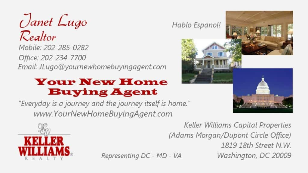 Your New Home Buying Agent Business Card