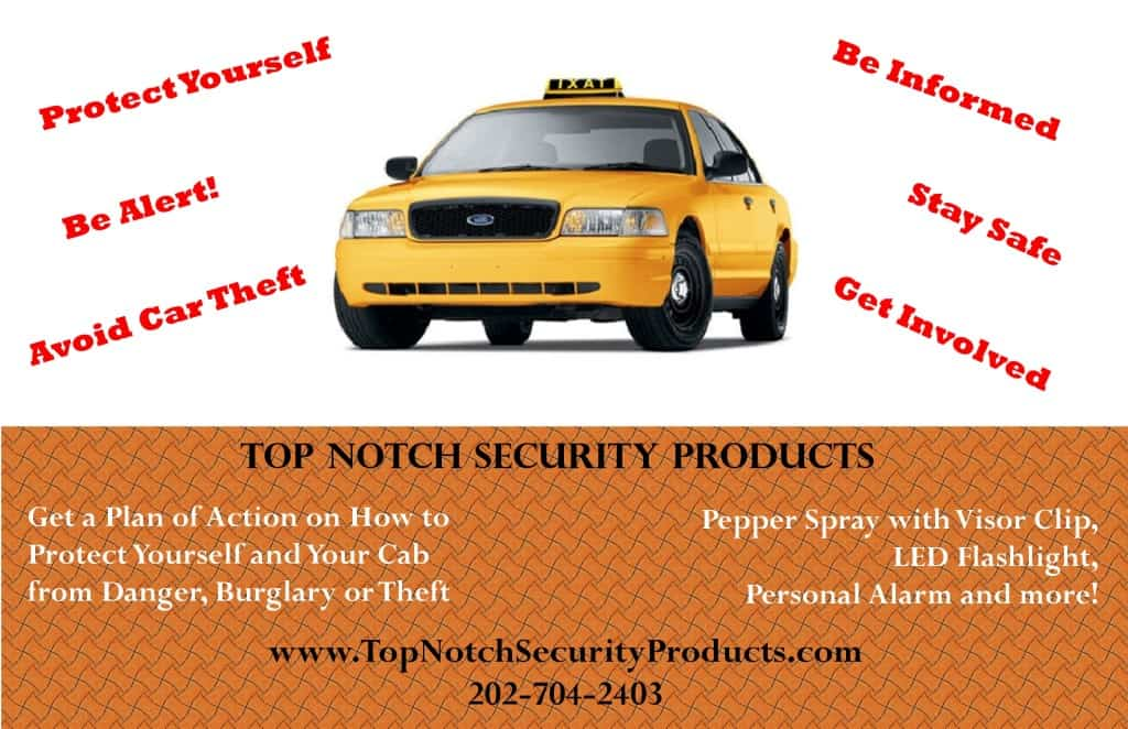 Top Notch Security Products Custom Taxicab Postcard