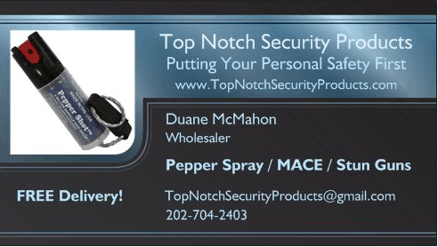 Top Notch Security Products Premium Business Card